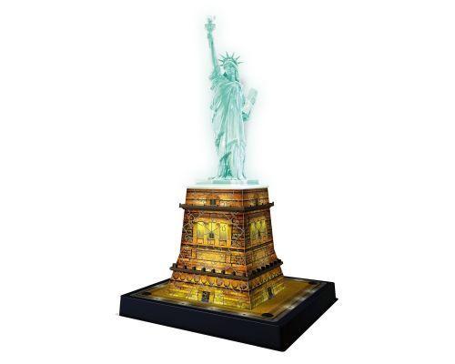 Puzzle Ravensburger Estatua de la Libertad Night Edition 3D 108