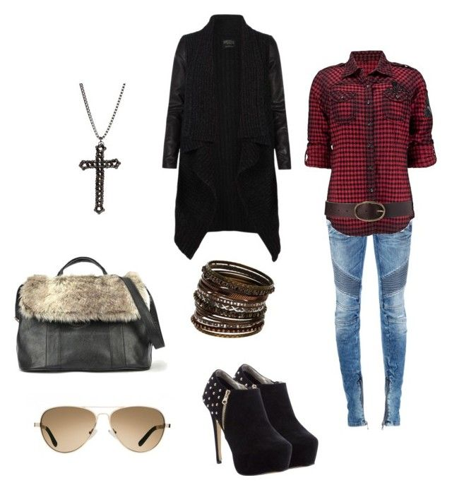"""shadow"" by gigideville ❤ liked on Polyvore featuring Balmain, Roar, AllSaints, Lands' End, TOMS, Wallis, gemma teller morrow and sons of anarchy"