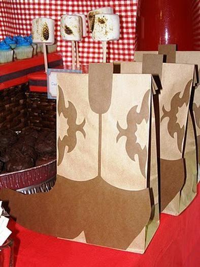 cowboy party treat bag :)