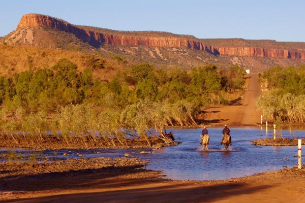 Experience a historic cattle station and sense one of the last true wilderness areas on earth With the magnificent Cockburn Range as your backdrop, soak in the unforgettable scenery of the East Kimberley and be inspired by the ultimate Australian outback experience and the region's Indigenous people.