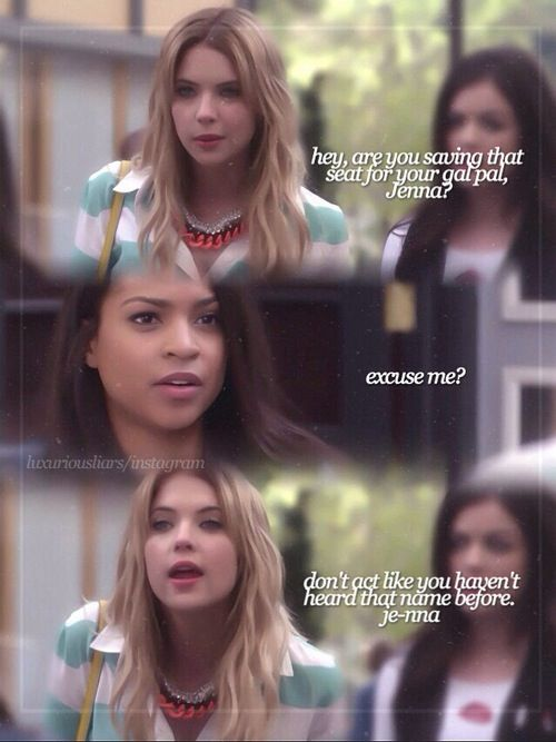 Pretty Little Liars ~ Hanna has so much confidence and sass I would be scared to mess with her
