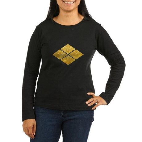 Takeda kamon Japanese samurai clan faux gold Long on CafePress.com