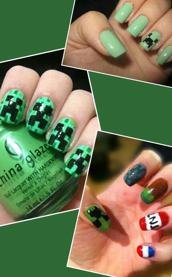 Awesome minecraft Nails!!