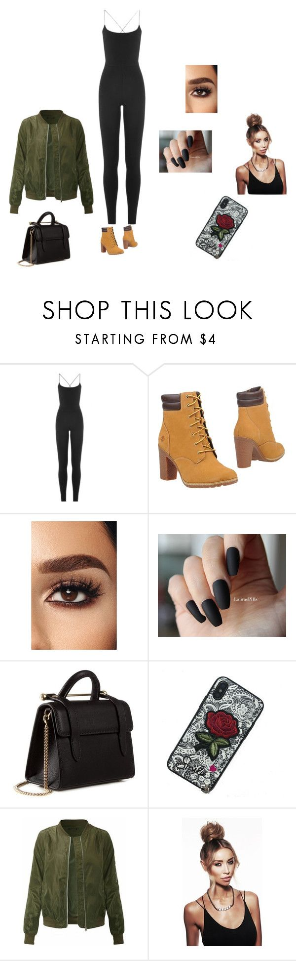 """""""Tims"""" by tatianaalcaraz on Polyvore featuring Valentino, Timberland and Strathberry"""