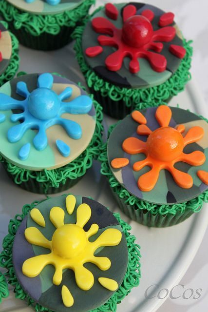 paintball cupcakes | Flickr - Photo Sharing!