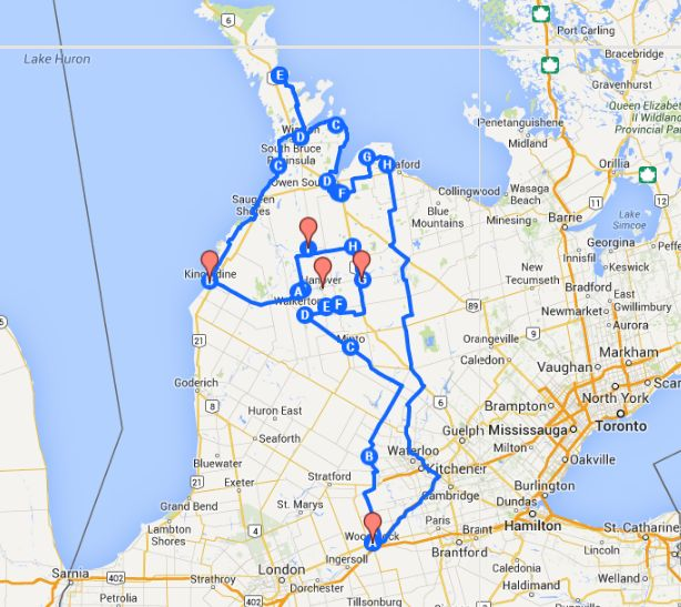Explore the Grey Bruce Superloop by Motorcycle... Ontario is awesome!