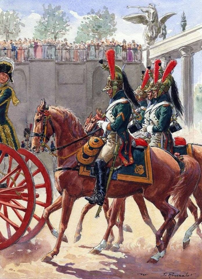 French; Imperial Guard, Empress Dragoons on escort detail