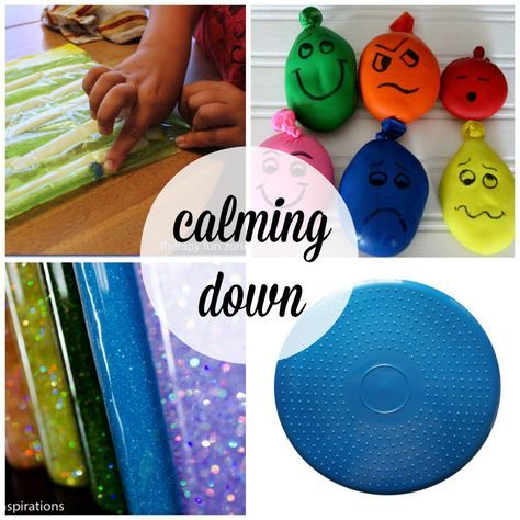 -Great ways to calm kids down.-playdoh in balloons to squish, like the faces