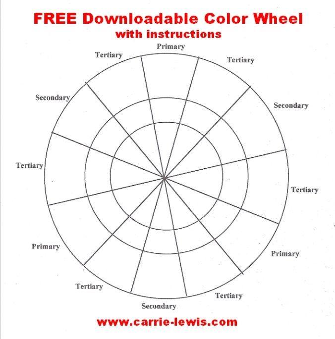 Free Color Wheel Value Scale Templates Colors Pinterest