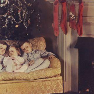 Faking sleep so Santa Claus would come