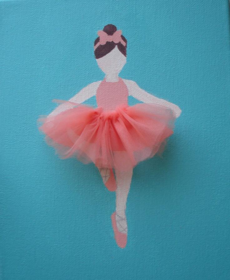 Ready To Ship Ballerina Painting With Tutu Nursery Baby