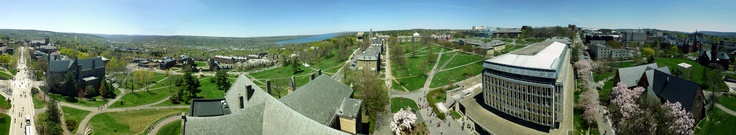 Spectacular Cornell University 360 Spring panorama captured by Andrew Parmet from the top of McGraw Tower.