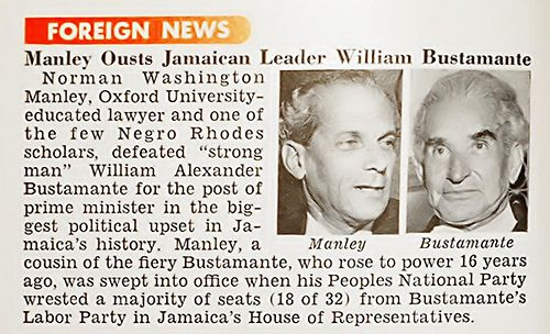 Norman Washington Manley Ousts Jamaican Leader William Alexander Bustamante for Prime Minister Post - Jet Magazine, January 27, 1955 | Flickr - Photo Sharing!