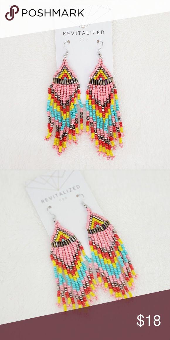 Revitalisierte》 rosa Perlen Ohrringe bunte Perlen Ohrringe 1 Paar neu …