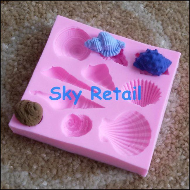 Sea snail silicone kitchen accessories moldes fondant polymer clay tools for cake decoration silicone candy chocolate mold bake on Aliexpress.com | Alibaba Group