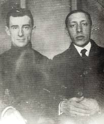 Maurice Ravel with Igor Stravinsky.