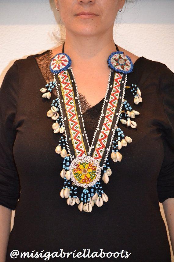 KUCHI NECKLACE Kuchi COLLAR Afghan necklace por MISIGABRIELLA