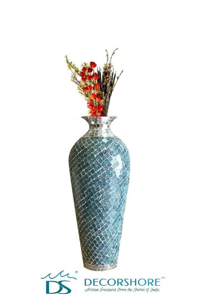 Bella Palacio Collection Decorative Mosaic Vase Geometric Pattern