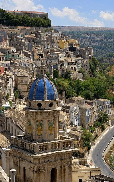 The old town of Ragusa in Sicily, Italy (by feryng)