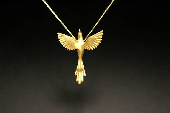 Phoenix bird necklace easter jewelry exotic bird Greek