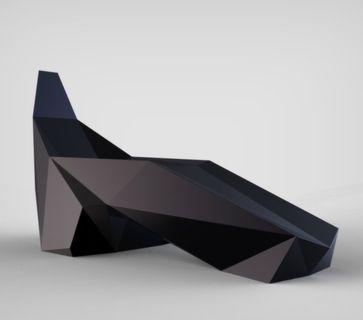 Cardboard Stealth Chair by Brennan Letkeman