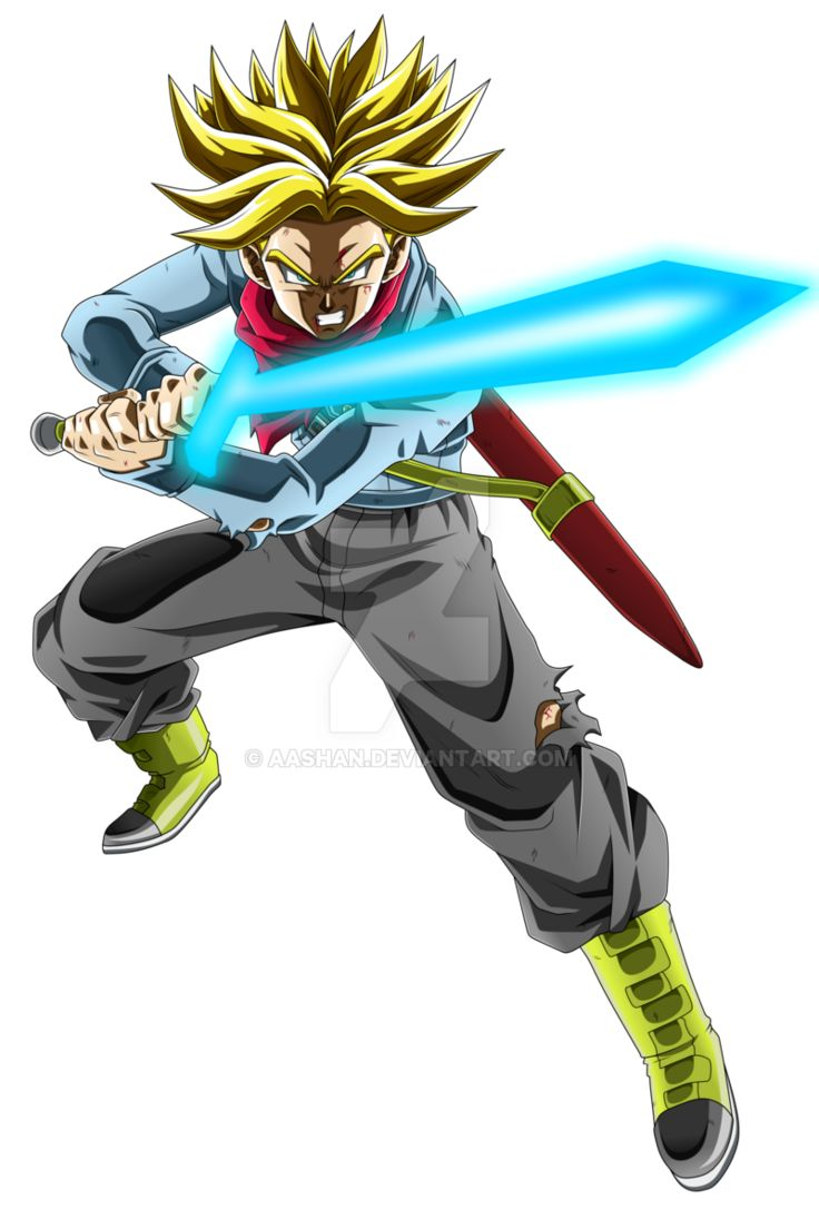 Future Trunks Super Saiyan Rage with Spirit Sword by aashan