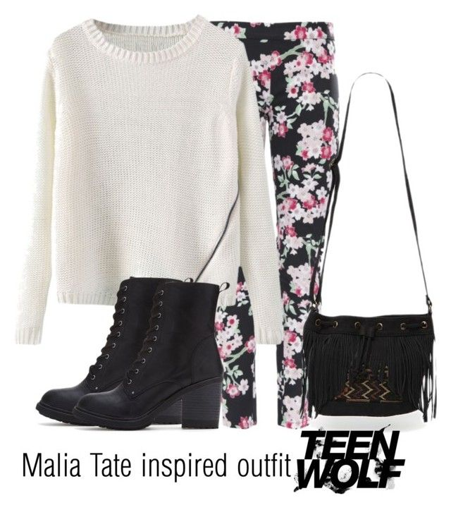 """""""Malia Tate inspired outfit/Teen Wolf"""" by tvdsarahmichele ❤ liked on Polyvore featuring Armani Jeans, Forever 21 and With Love From CA"""
