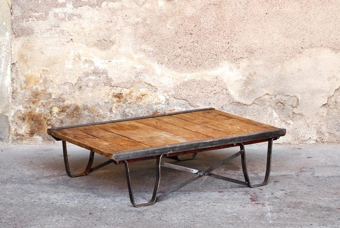 17 best images about table basse industrielle on pinterest - Table basse palette industrielle ...