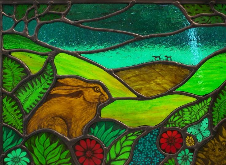 Figs and Olive out on a Harey Day by Angie @ Hare Moon Stained Glass