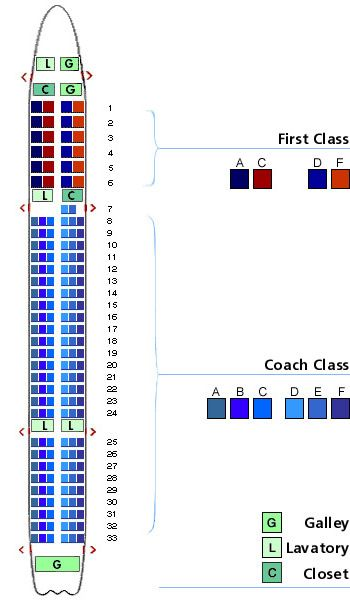 Boeing 757 Seating Chart Airline Seating Layout Maps And