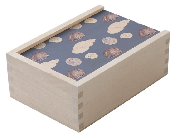 shell design wooden keepsake box large wood keepsake box with a sliding lid made