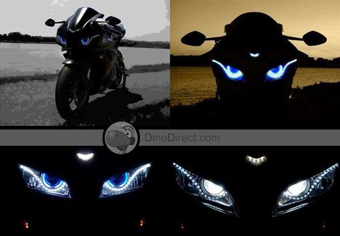 CarJoy Motorcycle Angel Eyes Devil Eyes Xenon Lights Hid Headlights Lamps Kits - DinoDirect.com