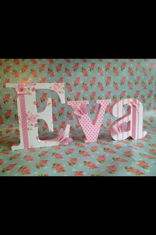 Decorative name children 39 s room kids room pinterest for Decorative letters for kids room