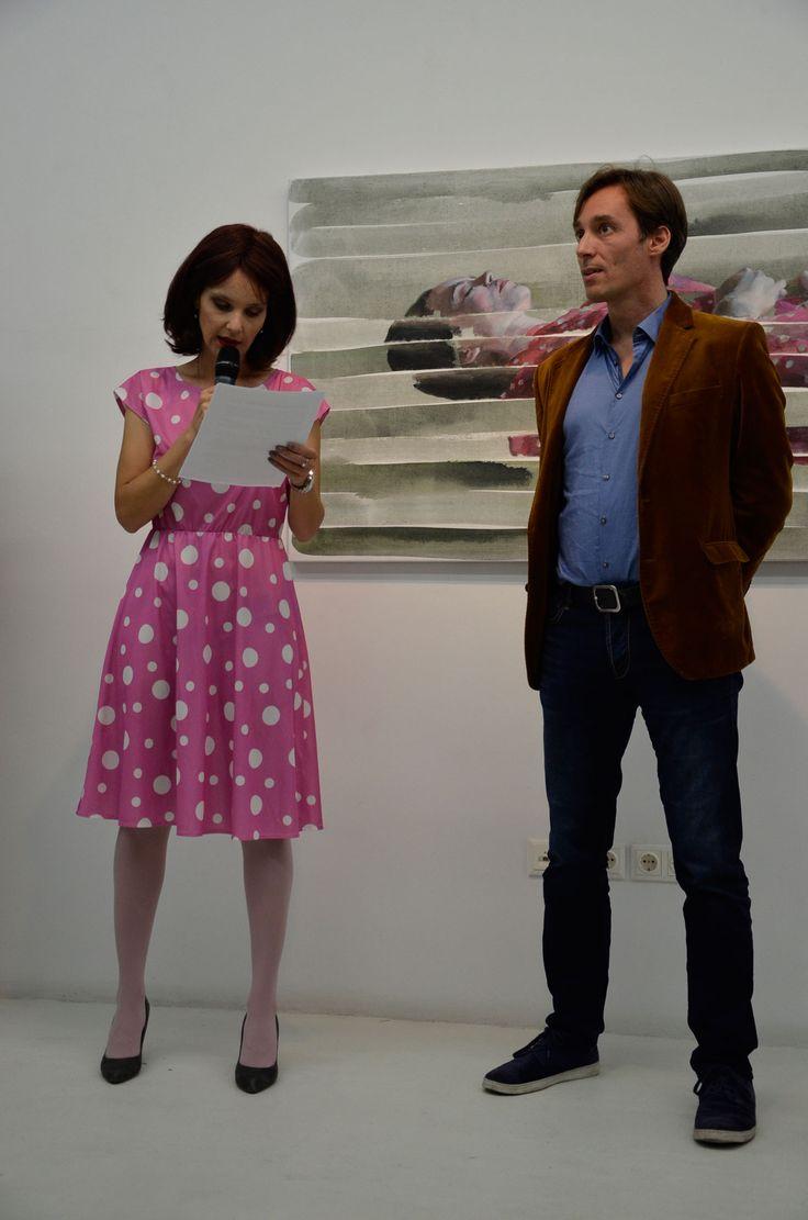 Karafiáth Orsolya and Deenesh Ghyczy In the background: Lucid Dream, 2014