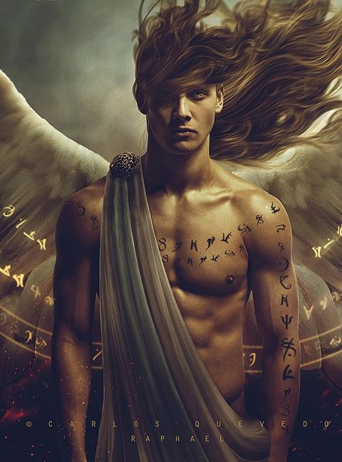 Cool, fantasy art, Angel, wings, feathers, powerful, muscle, hot, sexy, beauty