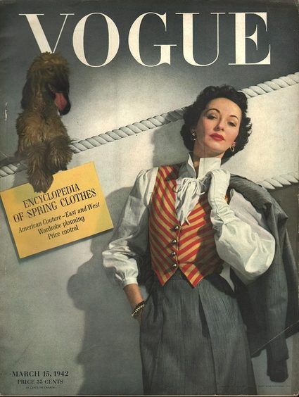 Vogue March 15 1942. This style could easily be from 1952 as well!!