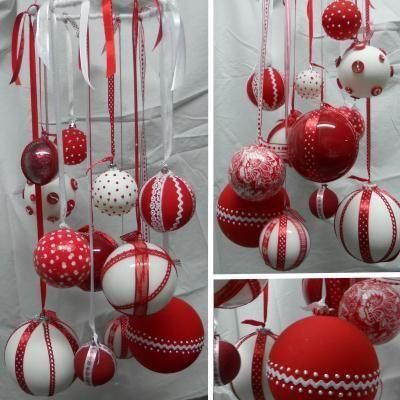 17 meilleures id es propos de boules de no l sur - Faire des decorations de noel ...