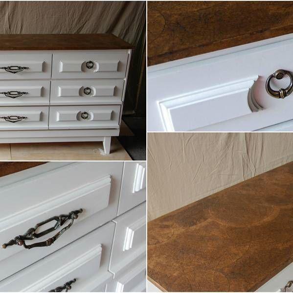 9 Drawer Dresser w/ hand crafted textured top - Sold. #dresser  #furniture