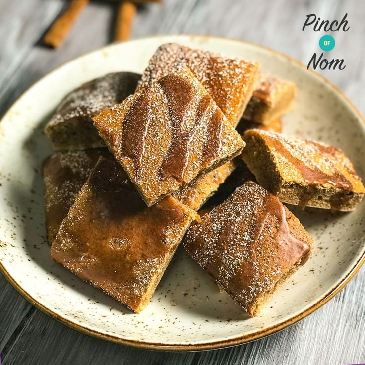 The shop bought version of these Low Syn Cinnamon Drizzle Squares have been really popular on our Facebook Group so we thought we'd come up with our own version, which are lower in Syns and taste even better! A great treat when following the Slimming World Extra Easy Plan.