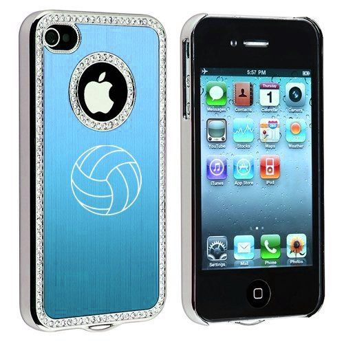 Apple iPhone 4 4S 4G Light Blue S851 Rhinestone Crystal Bling Aluminum Plated Hard Case Cover Volleyball, http://www.amazon.com/dp/B009EFB13C/ref=cm_sw_r_pi_awd_5N36rb0JCD7H6