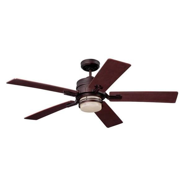 Emerson Amhurst 54-inch Venetian Bronze Transitional Ceiling Fan with Reversible Blades