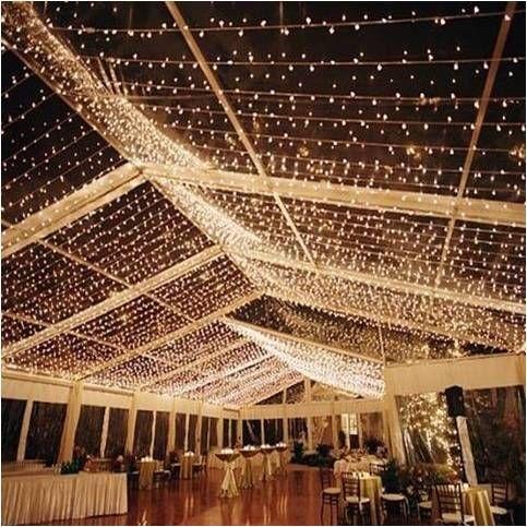 #ceiling decor #wedding #suspensions plafond lumineux au dessu de la piste de danse
