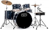 Mapex tornado rock drum kit in blue