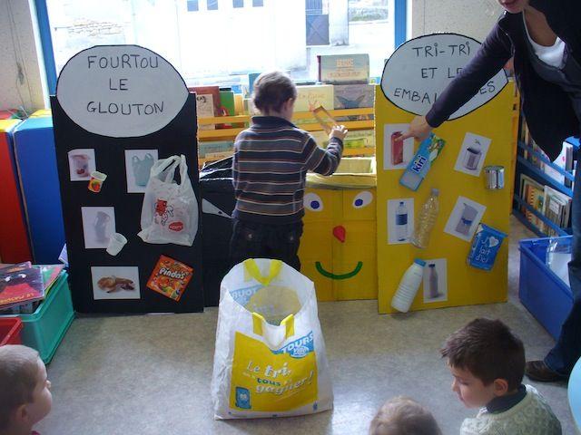 Ecole Maternelle Publique d'Epeigné-les-Bois - Le devenir des déchets ménagers