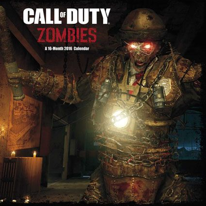 Official Call of Duty Zombies 2016 Calendar available from Publishers at https://www.danilo.com/Shop/Calendars/Gaming-Calendars