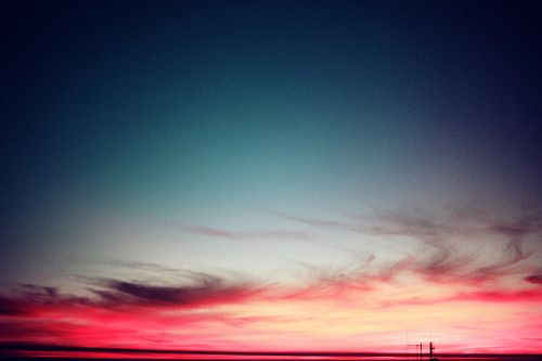Neon sunset, Cape Town.