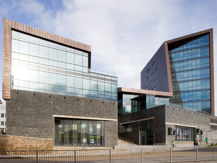 The Roland Levinsky building at the University of Plymouth in Devon, UK. Its distinctive form features high performance solar control glass Pilkington Suncool™ 50/25.  #architecture