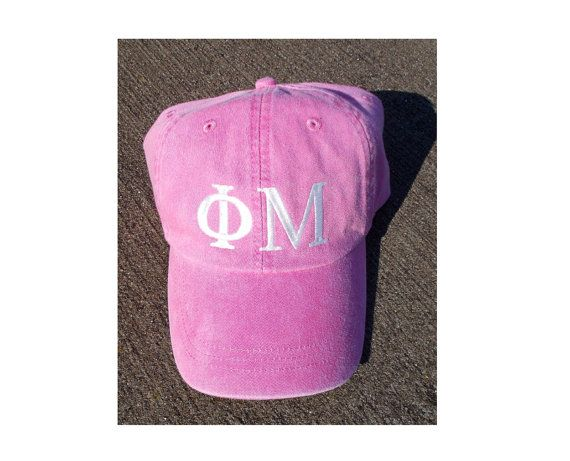 Phi Mu pink baseball cap by hyunich on Etsy