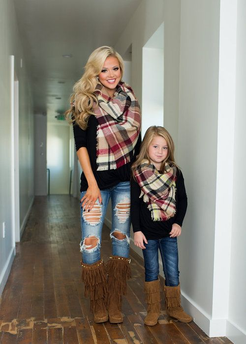 Mommy and Me Front Knot Top Black - Ryleigh Rue Clothing by Modern Vintage Boutique