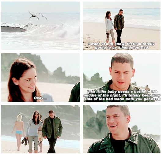"""""""I'm totally going to be a hands-on Dad"""" - Michael and Sarah #PrisonBreak he never got to be"""